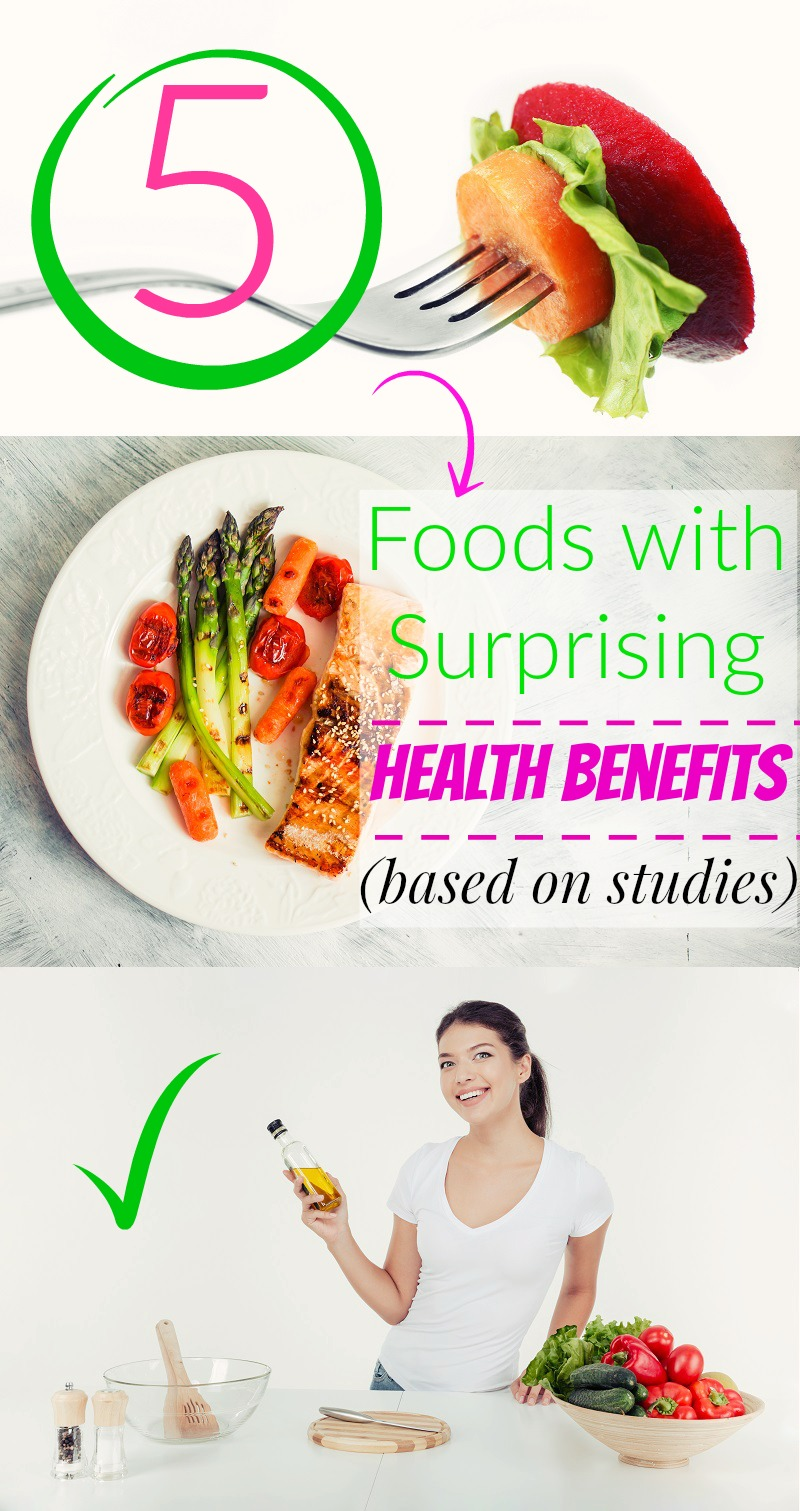 5 Foods with Surprising Health Benefits (based on studies)