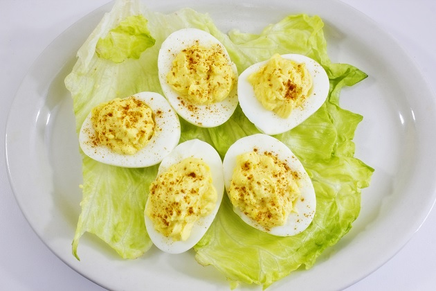 Boiled Eggs on salad