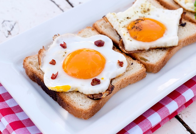 Two Eggs On Bread