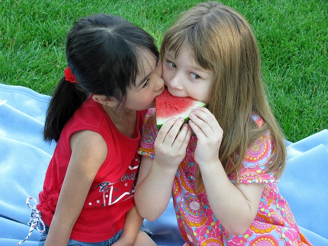 Kids love watermelon