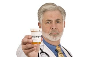 Doctor With Prescription Medication