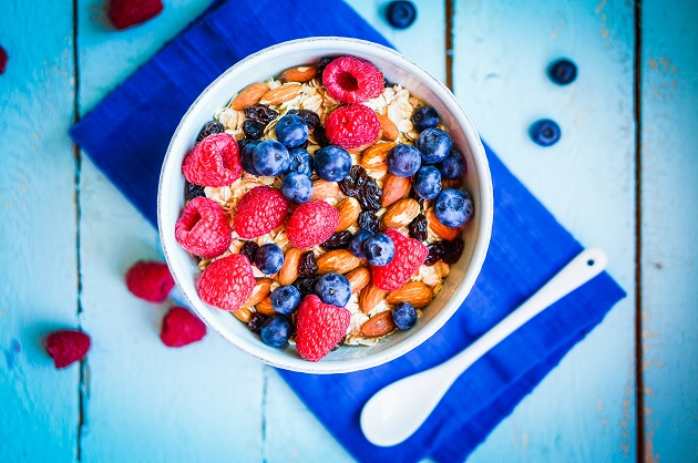 Granola With Berries And Almonds