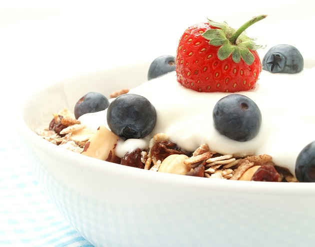 Healthy Breakfast with yogurt